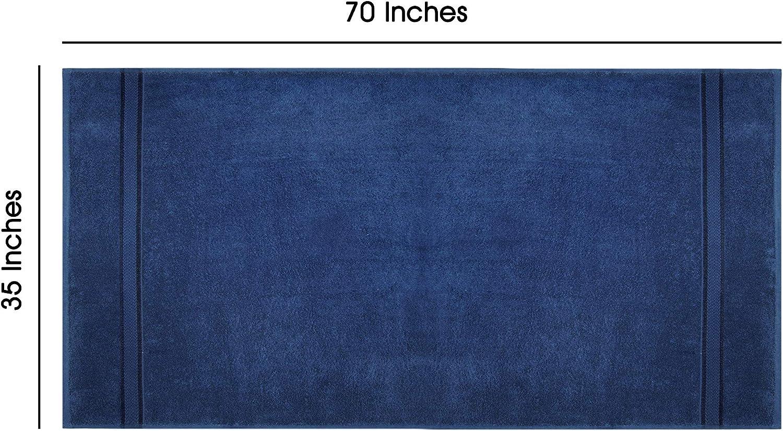 COTTON CRAFT Ultra Soft Luxury Set of 2 Ringspun Cotton Bath Sheets, 580GSM, Heavyweight, 35 inch x 70 inch, Night Sky: Kitchen & Dining