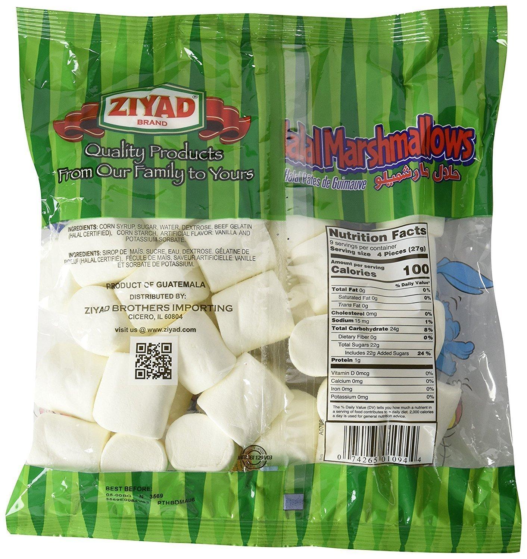 Ziyad Halal Marshamallows, 8.82 OZ (Pack - 6)