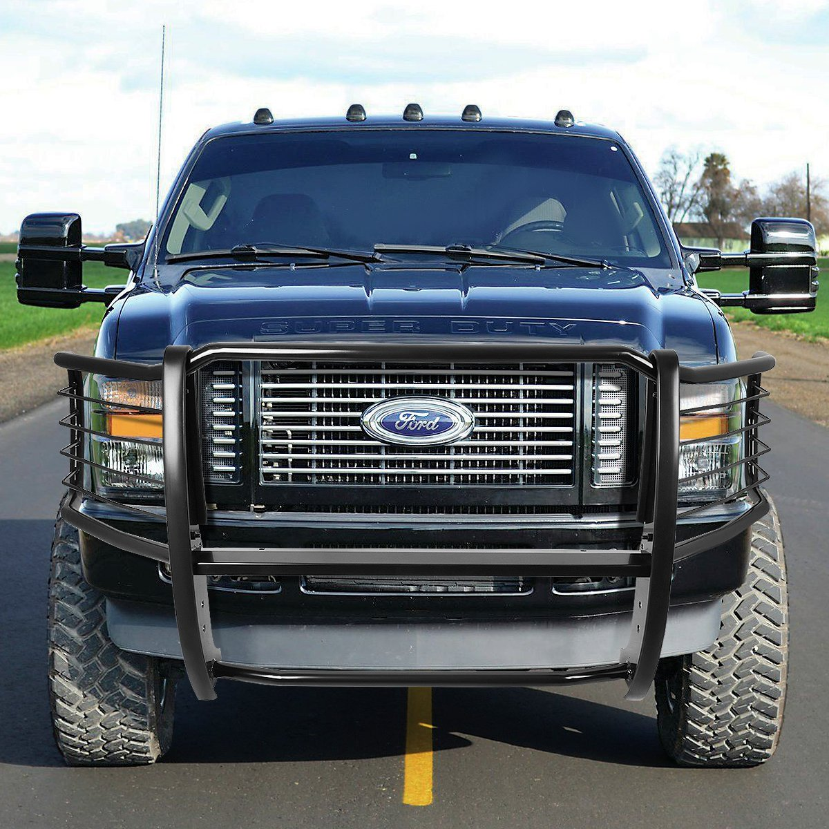 For Ford F250 F350 F450 F550 Superduty Front Bumper 1955 Truck Protector Brush Grille Guard Black Automotive