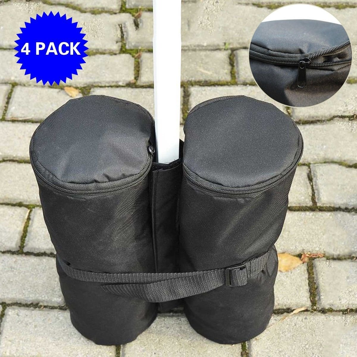 4pc Weight Sand Anchor Bags for Outdoor Canopy Party Gazebo Pop up Tent Pole