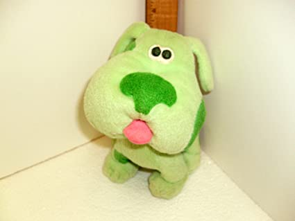 Blues clues green puppy plush Blue Magenta Green Amazoncom Amazoncom 2000 Viacom Blues Clues Green Puppy Everything Else