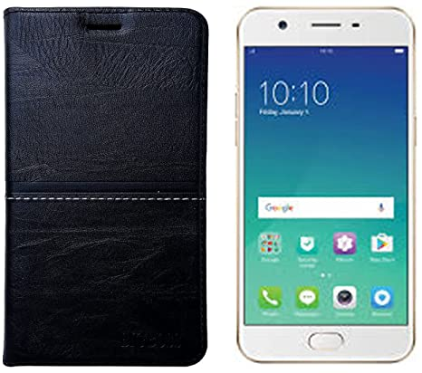 finest selection 7148b 4c786 OPPO A57 Rich Feel Bigg Boss Premium Leather Flip Cover: Amazon.in ...
