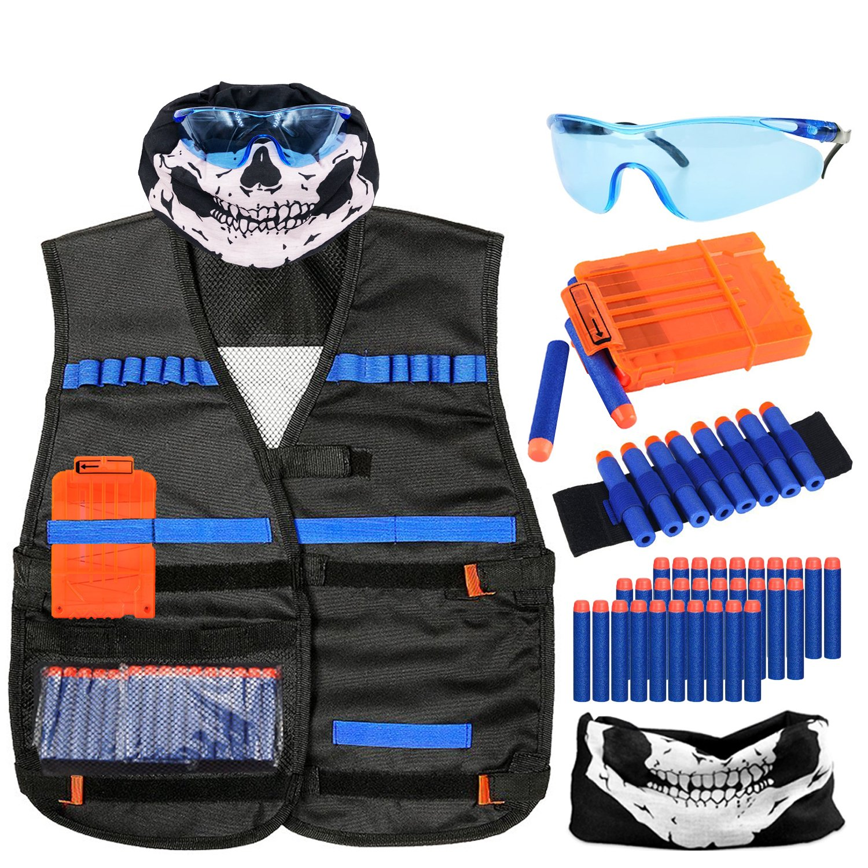 Tactical Vest Kit for Nerf Guns N Strike Elite Tactical Vest & Foam Darts Refill