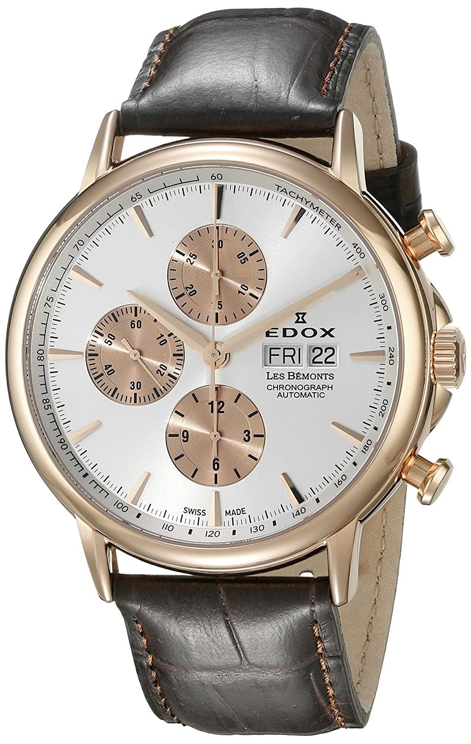 [エドックス]Edox 腕時計 Les Bemonts Analog Display Swiss Automatic Brown Watch 01120 37R AIR メンズ [並行輸入品] B01AUL2L3W