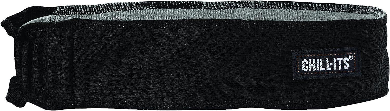 Ergodyne Chill-Its 6605 Headband, Lined with Terry Cloth Sweatband, Sweat Wicking, Black