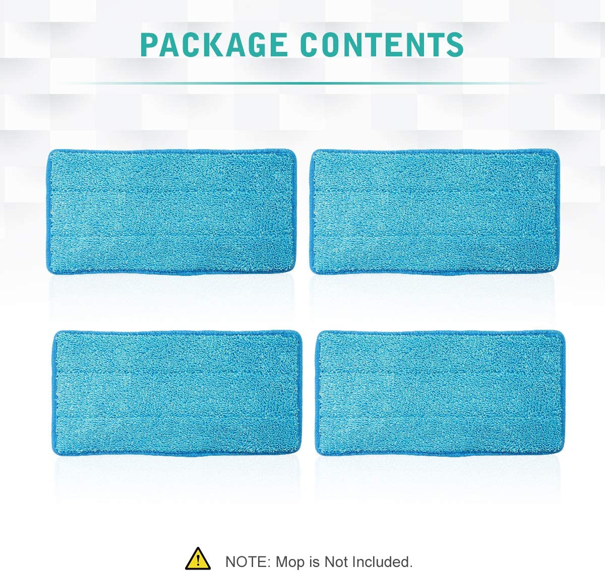 4 Pack LANMU Reusable Pads Compatible with Swiffer Sweeper Mops Replacement Washable Mopping Cloth Refills