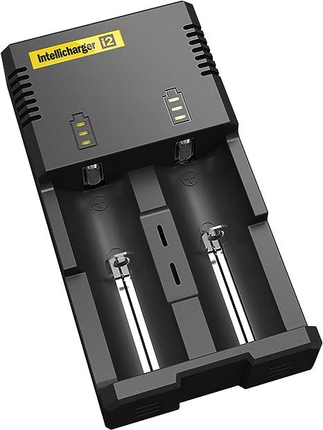 Nitecore New I2 doppio alloggiamento Caricabatterie Universale a 1000 Ma