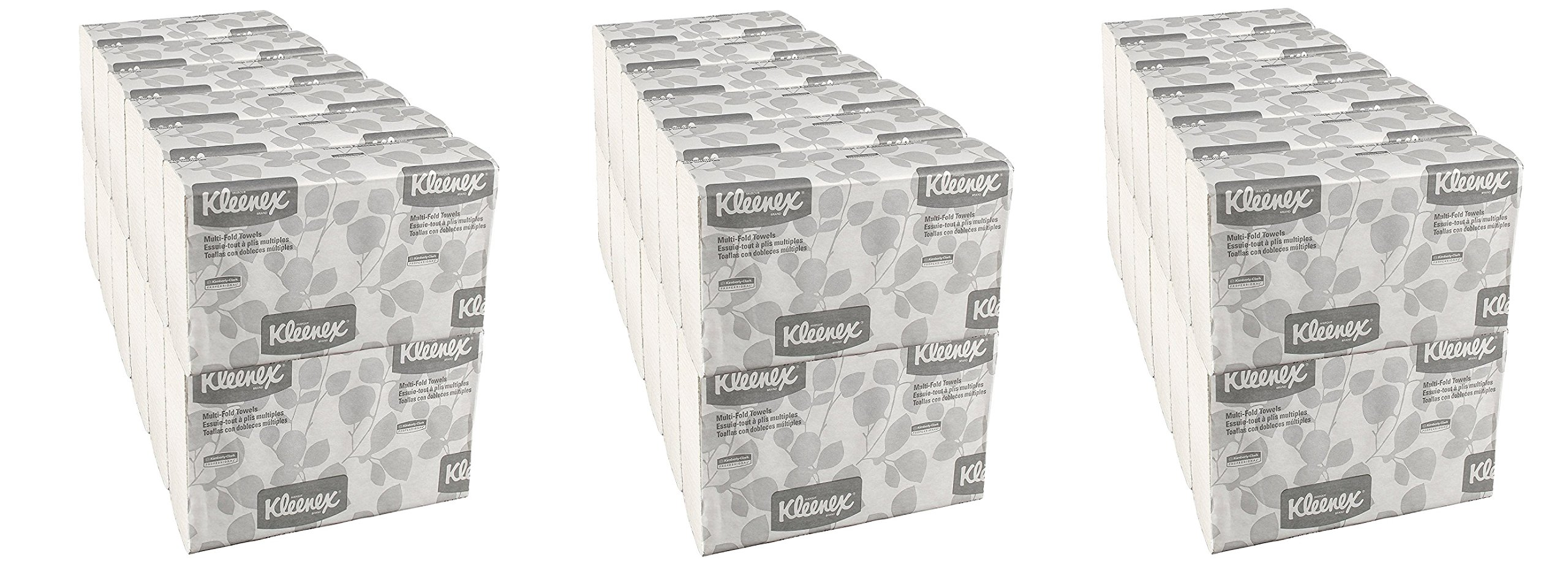 Kleenex Multifold Paper Towels (02046), White, 24 Packs / Convenience Case zAGmTR, 150 Tri Fold Paper Towels / Pack