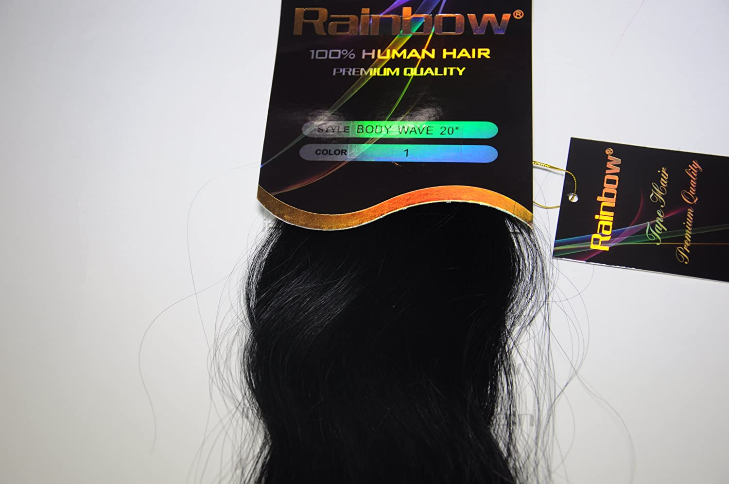 Amazon.com : Rainbow Hair Collection 4 cm Tape-in Hair Extensions Body Wave 20 pcs (16