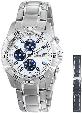 FESTINA Sport 16169/2 - Reloj unisex de cuarzo, correa de acero inoxidable color plata: Festina: Amazon.es: Relojes