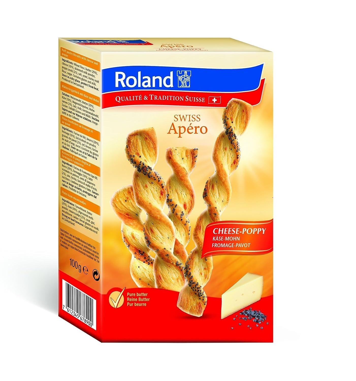 Roland Swiss Apero Käse-Mohn 100 g, 4er Pack (4 x 100 g): Amazon.de ...