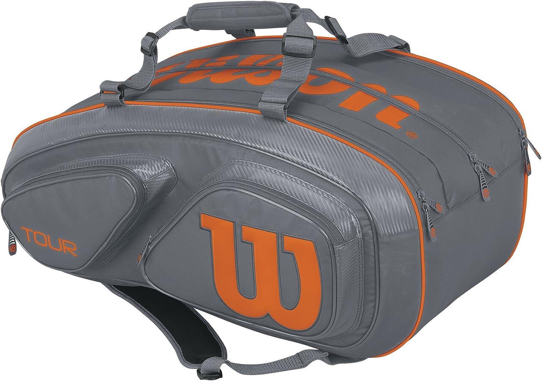 Wilson Tour V 15 Pack Tennis Bag Grey//Orange
