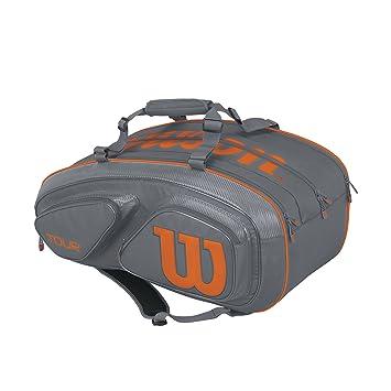 WILSON Tour V 15 Pack Gyor Mochila, Unisex Adulto, Gris (Grey/Orange), 36x24x45 cm (W x H x L): Amazon.es: Deportes y aire libre