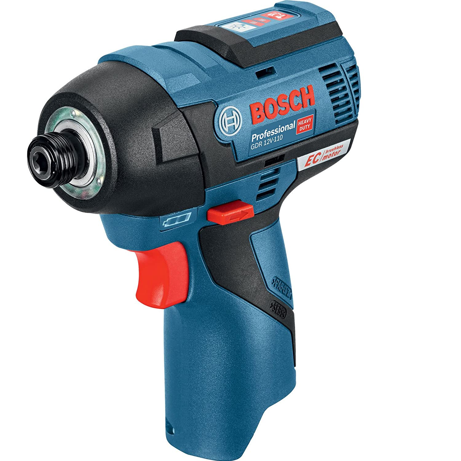 Bosch Professional GDR 12 V-EC Cordless Impact Driver (Without Battery and Charger) - Carton 06019E0002