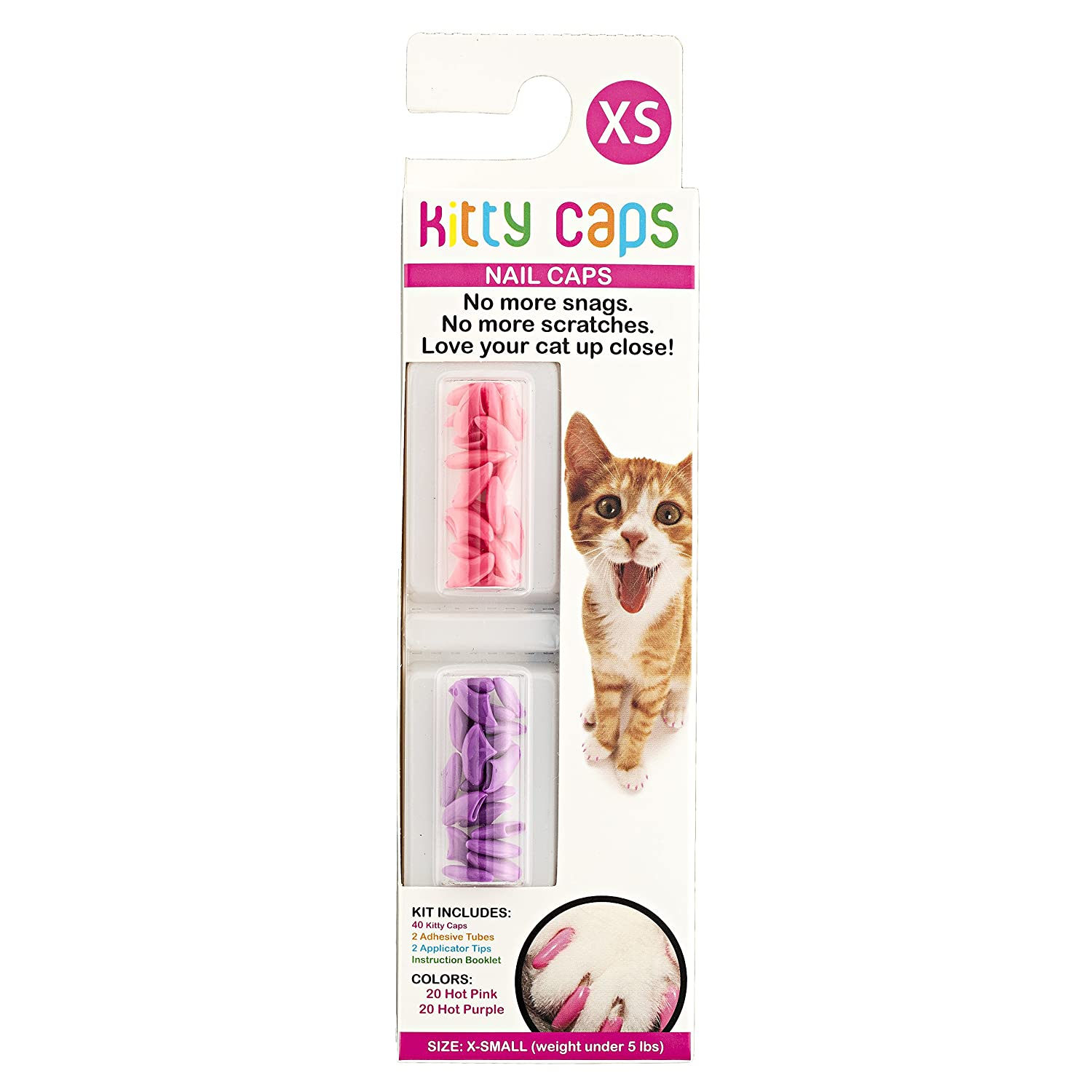 Amazon.com : Kitty Caps Nail Caps - Assorted Colors - Medium 3 Pack ...