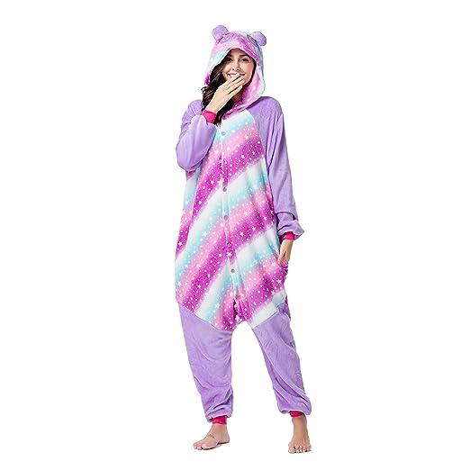 266cbd092ba2 RONGTAI Adults Unisex Animal Kigurumi Flannel Panda Onesie Pajamas Cosplay  Costume(S(4