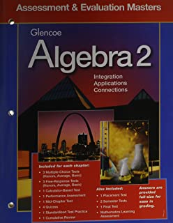Glencoe Algebra 2: Answer Key Masters: no author specified