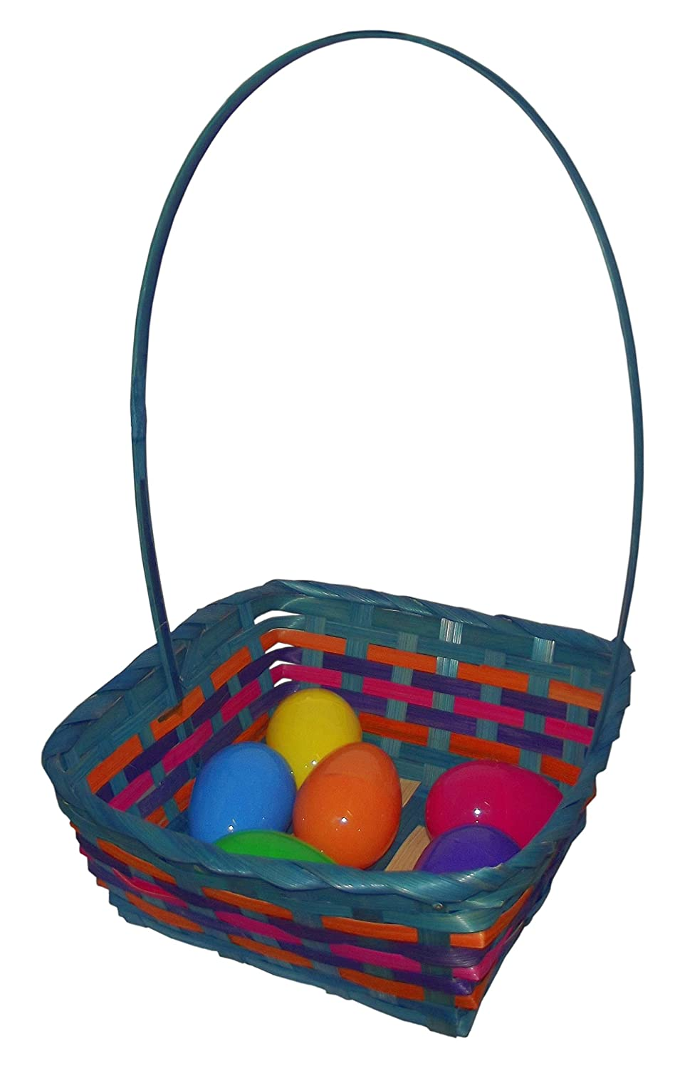 Easter Square Bamboo Basket Assortment-Includes 1; styles vary 15.25 x 9.5 x 4.5 West Coast