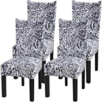 Fuloon Removable Washable Dining Chair Protector Cover Seat Slipcover for Hotel Dining Room Ceremony Banquet Wedding Party