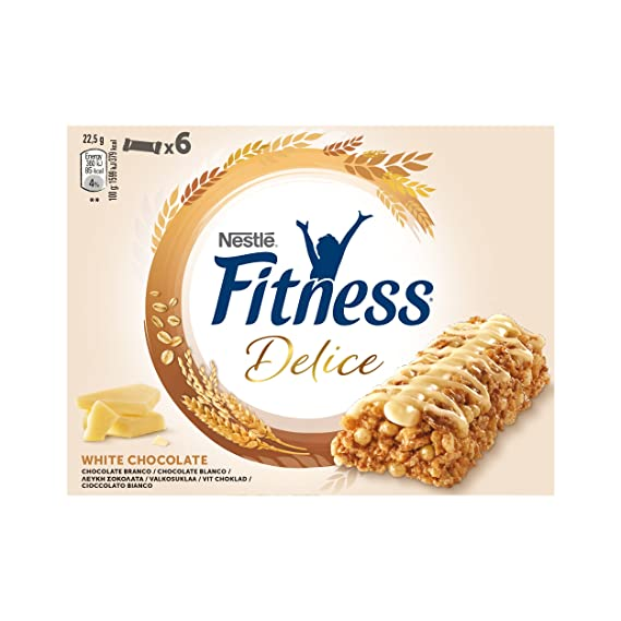 Fitness Delice - Barritas de cereales con chocolate blanco ...
