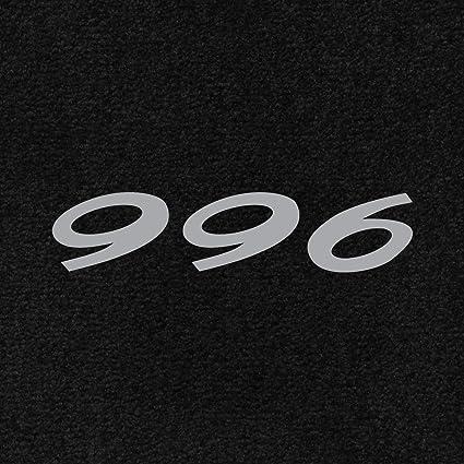 Lloyd Mats - Ultimat Black Front Floor Mats For Porsche 911 1998-04 with  Silver 996 Script Embroidery