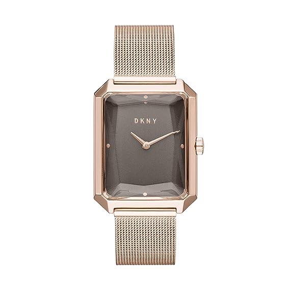 DKNY NY2710 - Reloj de Pulsera para Mujer, de Malla de Acero Inoxidable, Color Oro Rosa: Amazon.es: Relojes