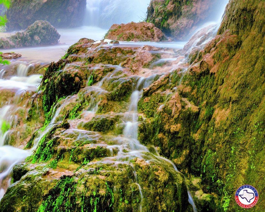 Gorman Falls Calm Artisan Texas State Parks Jigsaw Puzzle
