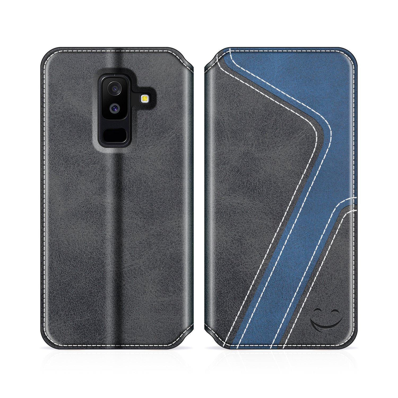 Spieldose Grandoin Galaxy A6 2018 Hülle Handyhülle im Brieftasche-Stil für Samsung Ga