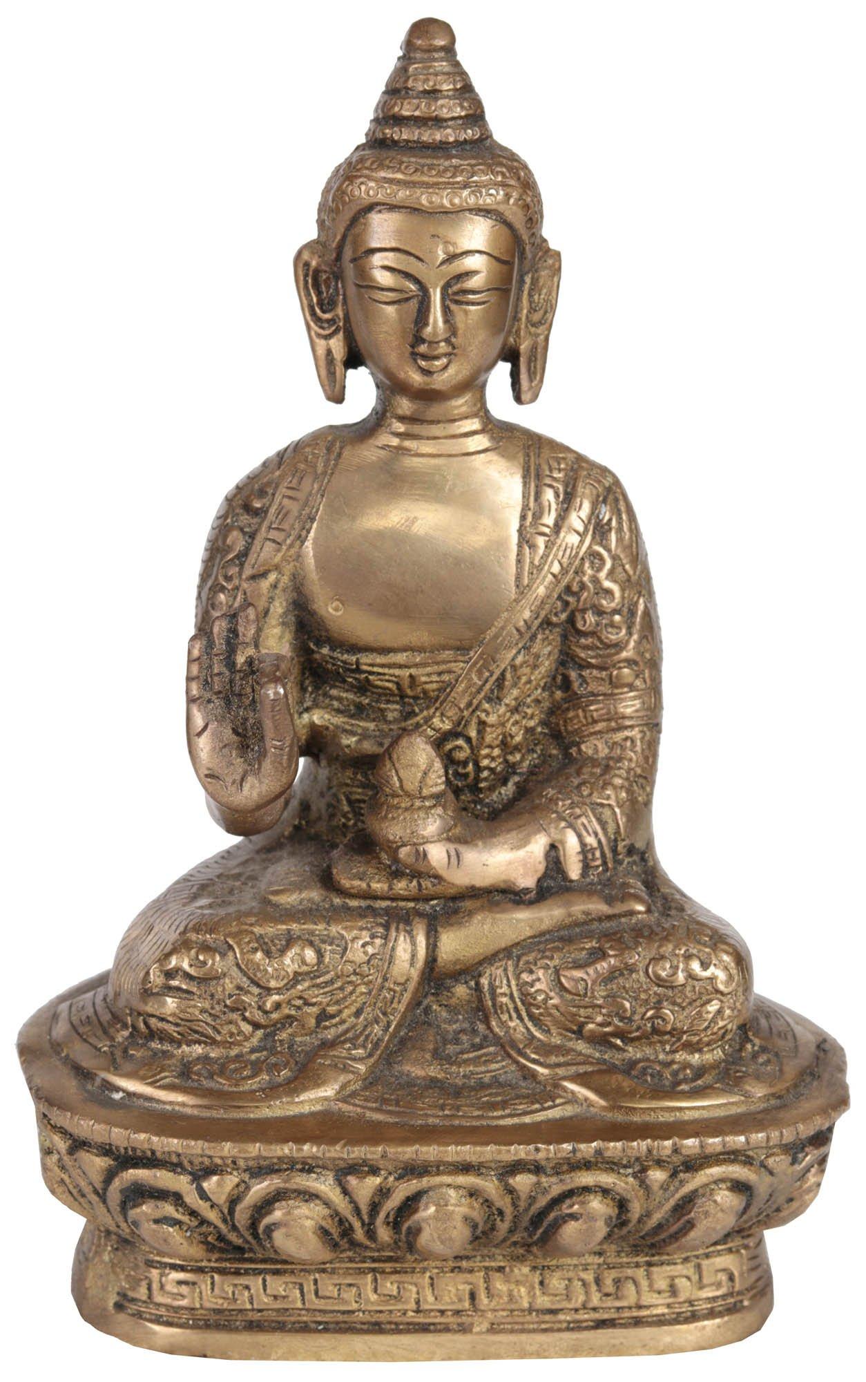 Shakyamuni Buddha Granting Abhaya to His Devotees -Brass
