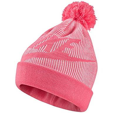 best sneakers d1e28 7f2f6 Nike Sportswear Women s Removable Pom Knit Beanie Hat (Pink Nebula) at  Amazon Women s Clothing store