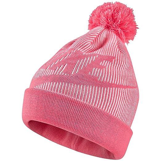 Nike Sportswear Women s Removable Pom Knit Beanie Hat (Pink Nebula ... a6be783ffd2