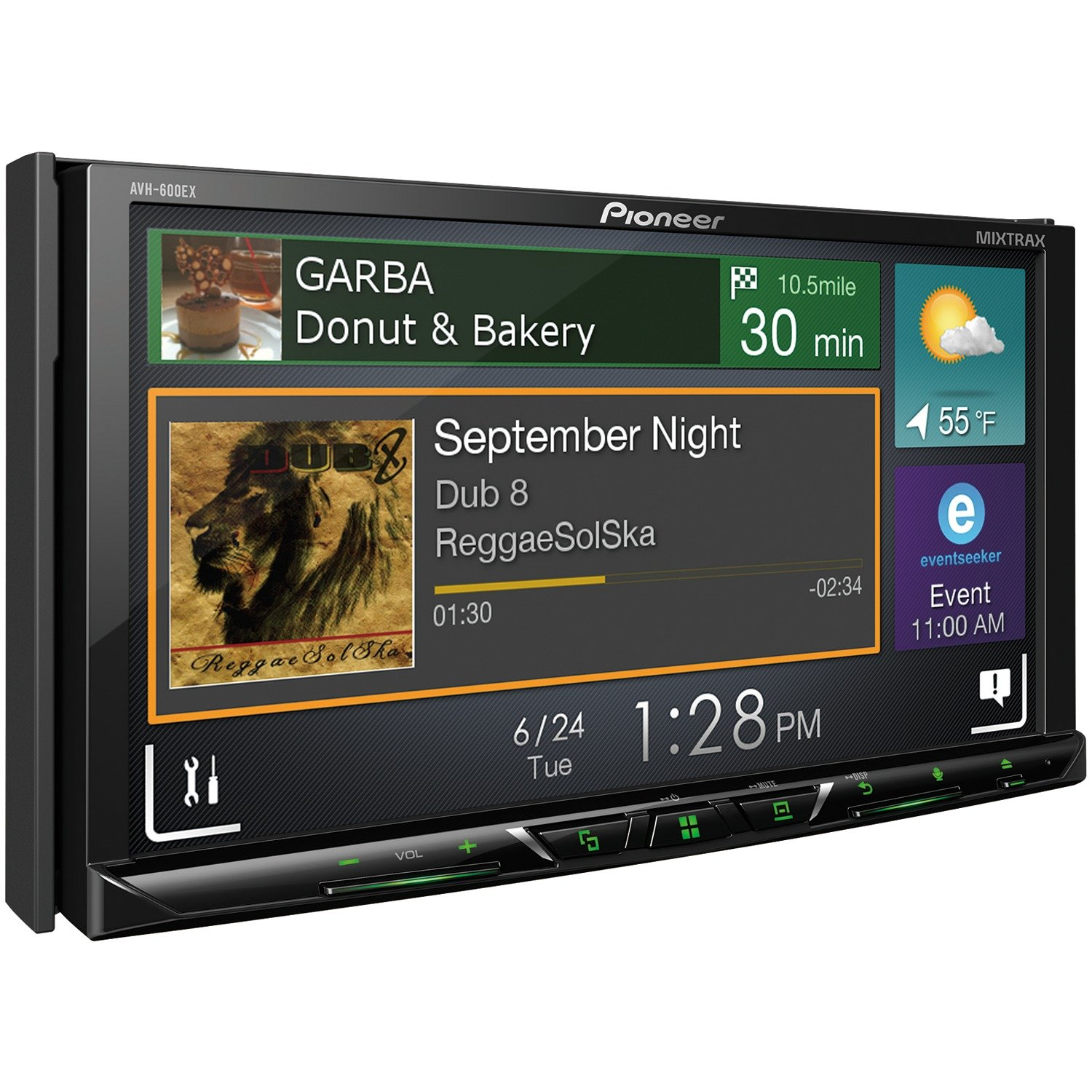 Pioneer AVH-600EX in-Dash Receiver DVD Receiver w/ 7'' WVGA Display, Bluetooth, SiriusXM Ready and AppRadio