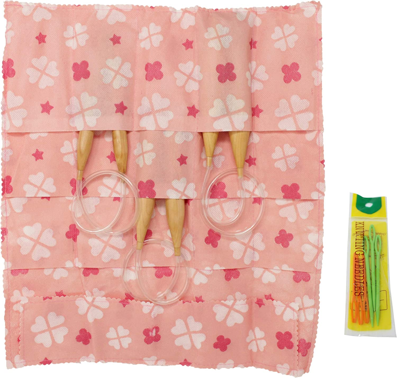 Snag Free US Sizes 19, 35 /& 50 24 Inches 24 Jumbo Wooden Circular Knitting Needles Set of 3 I Chunky Yarn Great Knitters Gift with Bonus Travel Case+Ebook
