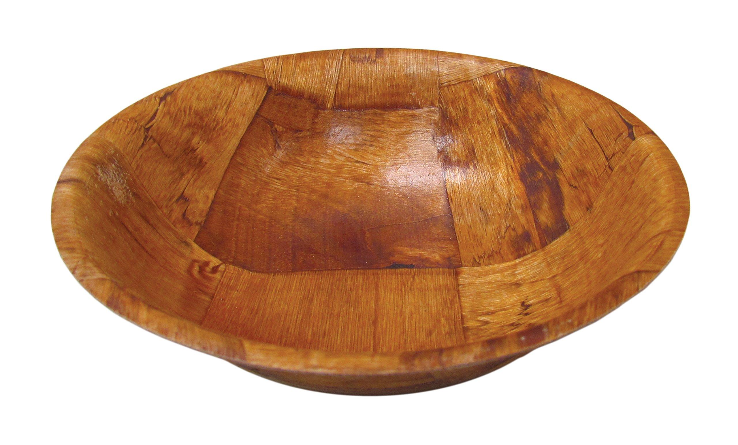 TableCraft - 10'' Woven Wood Salad Bowl
