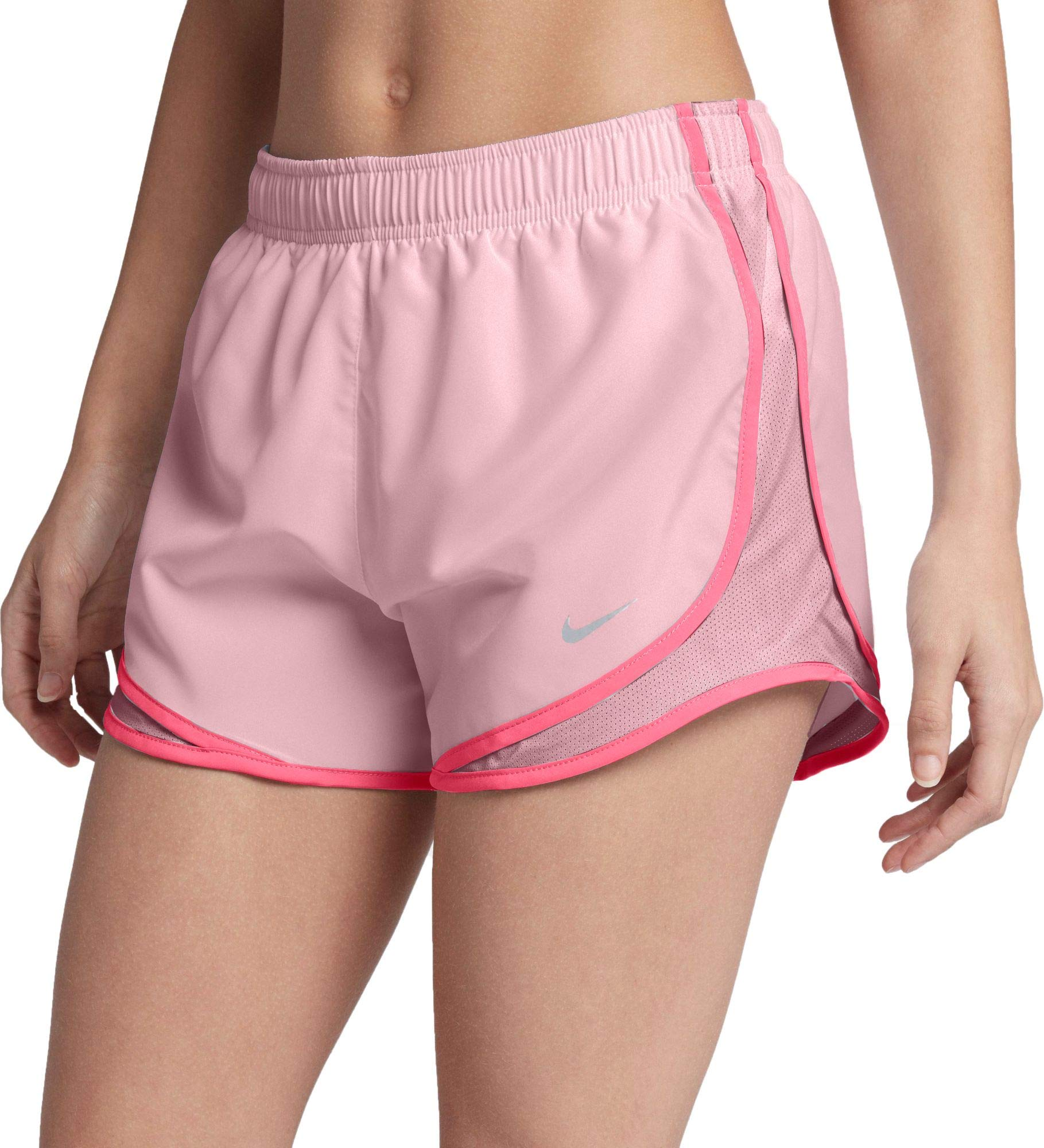 Nike Women's 3'' Dry Tempo Running Shorts (Arctic Pink/Wolf Grey/X-Small)