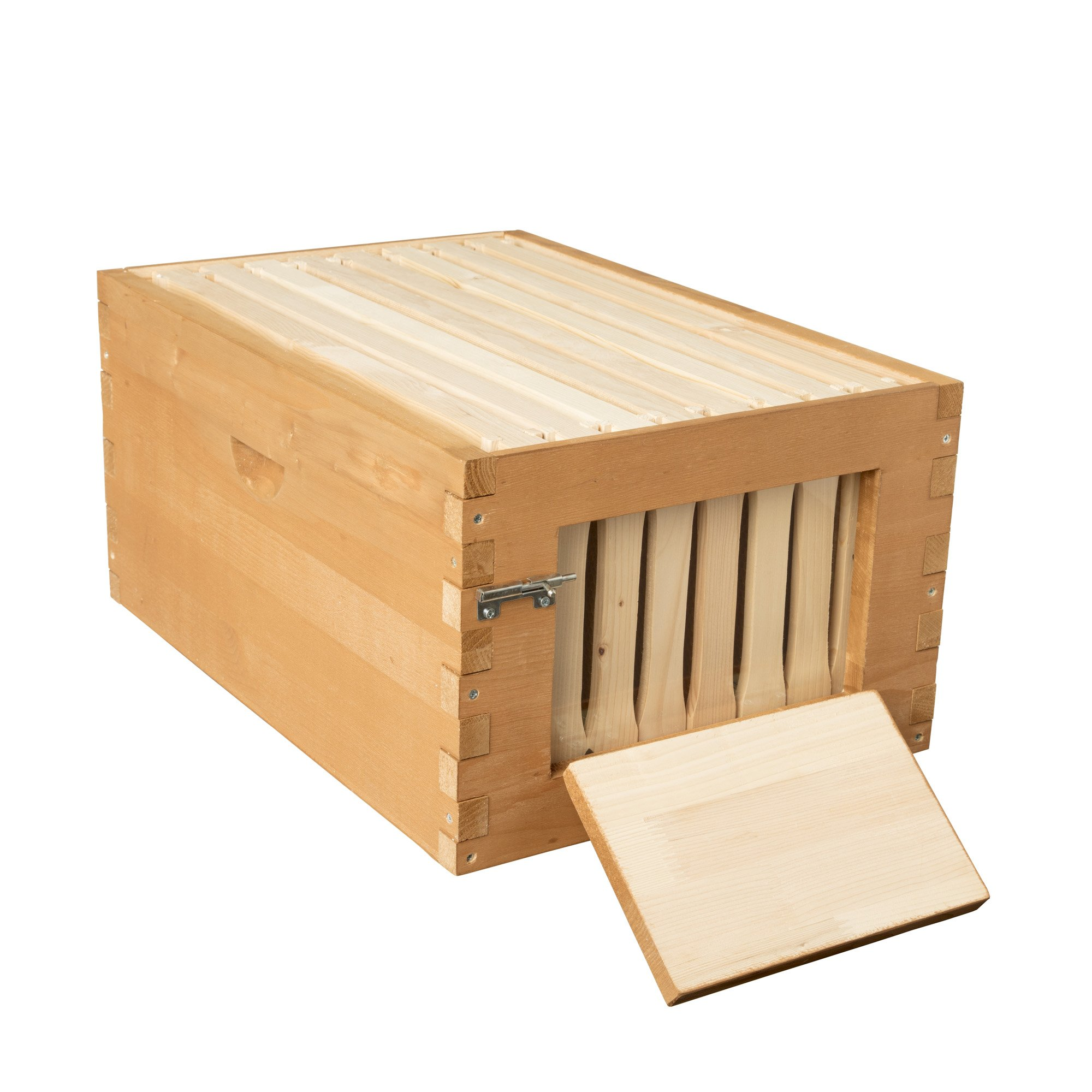 SummerHawk Ranch Quick-Check Super, 3-Year Warranty - Includes Quick Check Frames, Honeycomb Foundation, Great for Backyard Bee hive Extension, Beekeeping Equipment