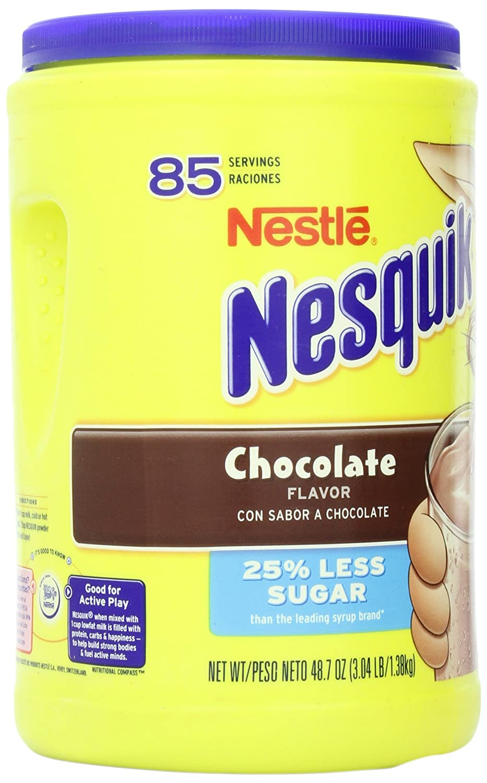 Amazon.com : Nesquik Chocolate Milk Drink Mix, Jug, 48.7 oz : Hot ...
