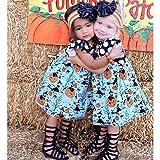 Chercherr Baby Girls Halloween Short Sleeve Pumpkin