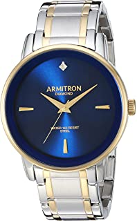 Armitron Mens Diamond-Accented Bracelet Watch