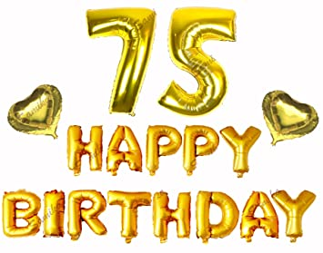 Amazon Happy 75th Birthday Decorations Banner Set Comes With