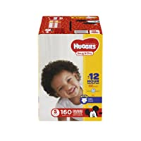 HUGGIES Snug & Dry Diapers, Size 5, 160 Count