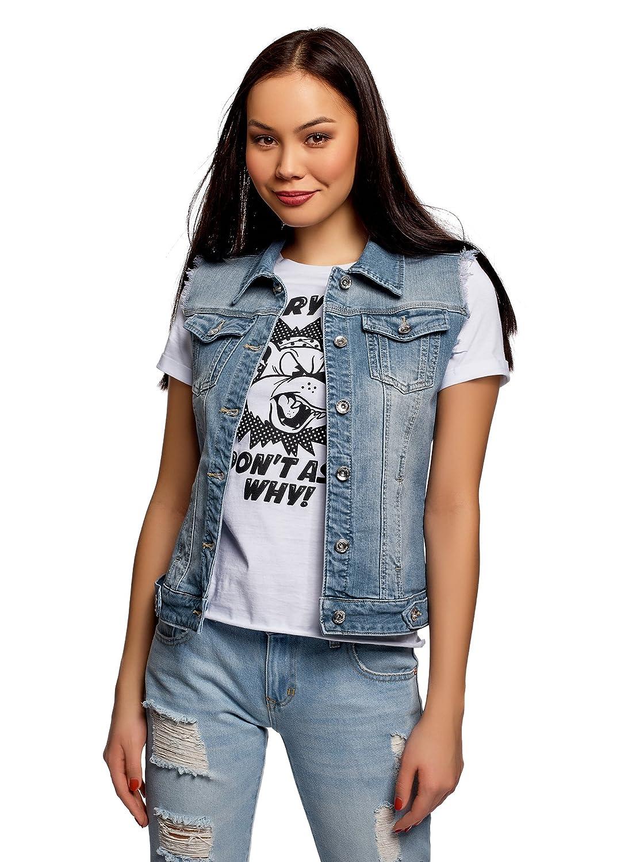 oodji Ultra Damen Jeansweste mit Ziertaschen RIFICZECH s.r.o. 12409023