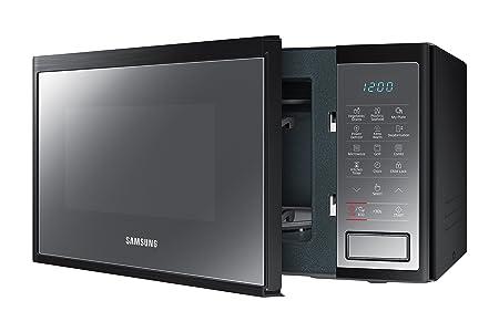 Samsung MG23J5133AM/EC - Horno-Microondas con grill, 23 litros, 800 W, interior Cerámica Enamel, color negro / espejo: Amazon.es: Hogar