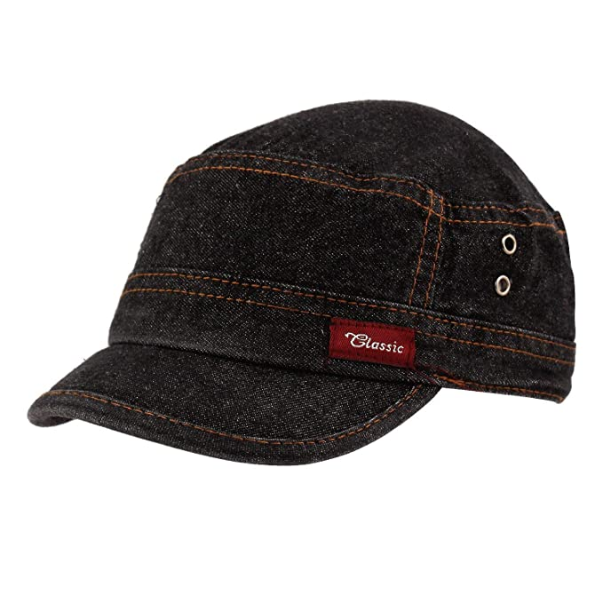 db2ab7f72 Starstep Short Peak Stylish Denim/Jeans caps for Mens and Women (Black):  Amazon.in: Clothing & Accessories