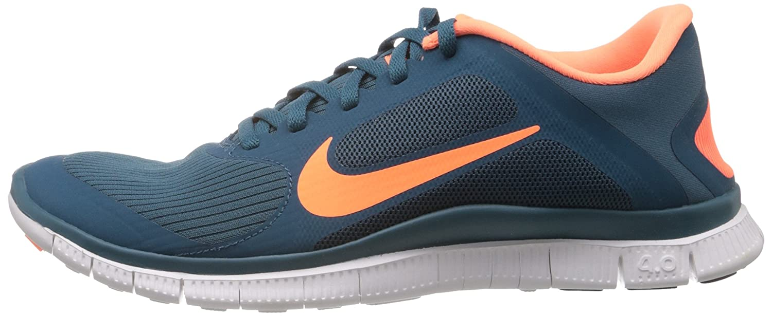 Nike Free 4.0 V3 Facteur De Nuit / Orange Atomique