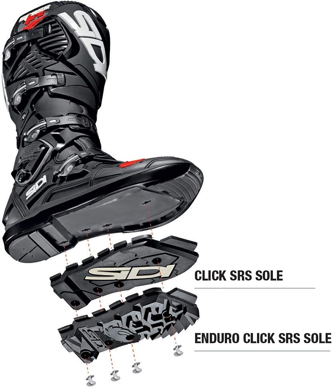 SIDI Crossfire 3 SRS Enduro Sohle CLICK schwarz Gr/ö/ße 44-45