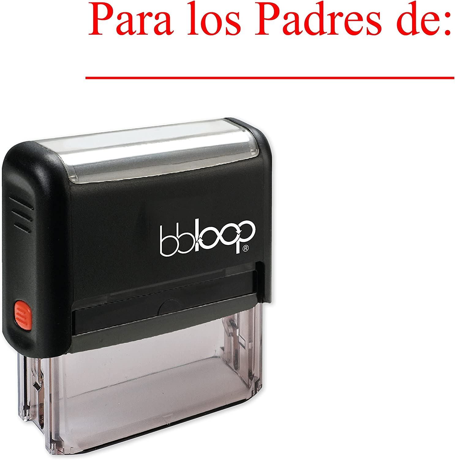 """""""para Los Padres De"""" Self-Inking Rubber-Stamp in Spanish"""