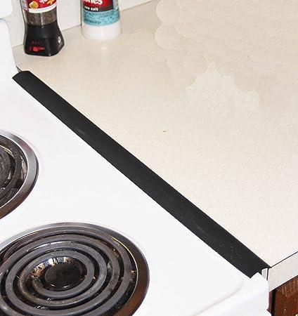 SLIM OVEN TRIM THE BEST Black   Countertop Gap Cover Oven Gap Seal (set Of