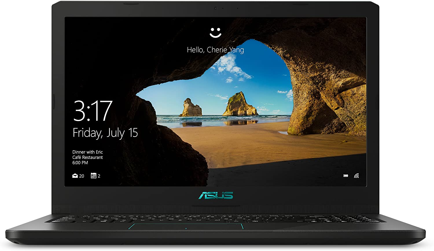 """ASUS K570UD-DS74 VivoBook Laptop, i7-8550U, GTX 1050 2GB, 8GB DDR4, 15.6"""" FHD Wide View, 256GB SSD + 1TB HDD, 802.11ac, Casual Gaming Laptop"""