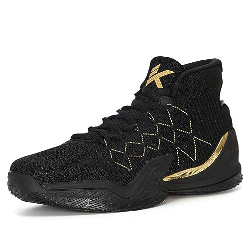 2efa778e54fcd ANTA 2018 Klay Thompson KT3 Mens Basketball Shoes (11, Black/Gold ...